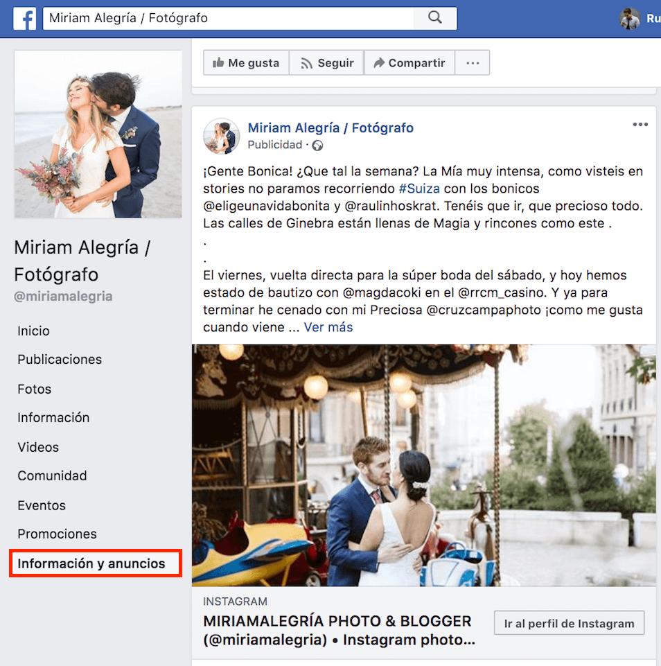 análisis anuncios competencia Facebook